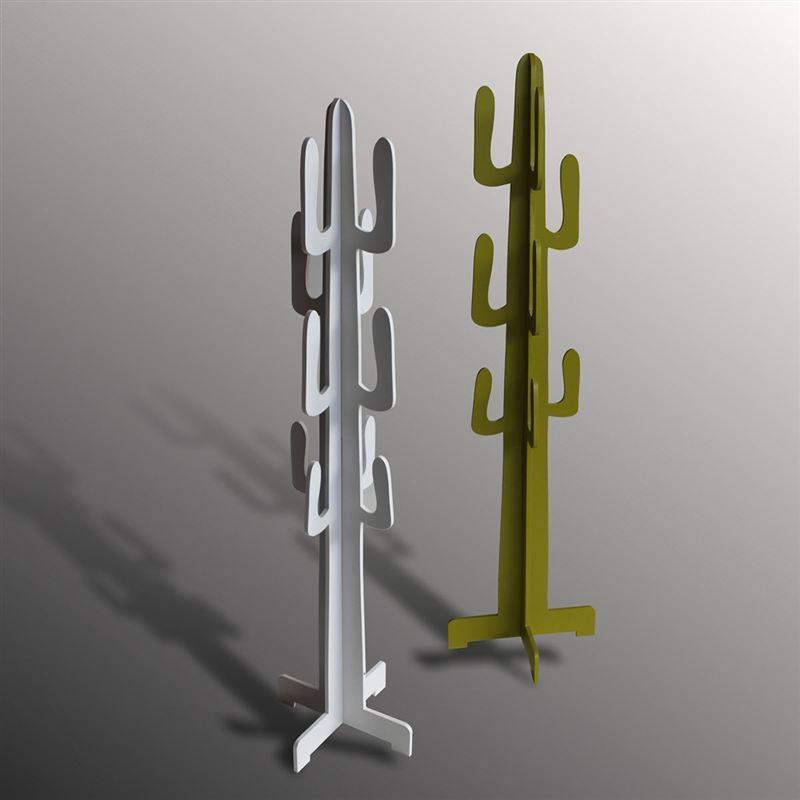 Cactus Appendiabiti.Design Tomasucci Mexico Green Appendiabiti Cactus In Legno Laccato