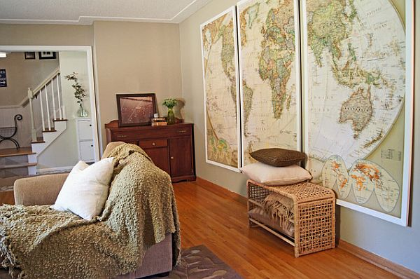 map Wall-framed-old-maps