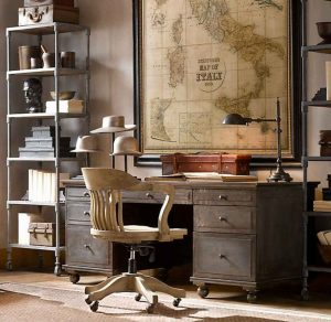 map old-maps-decoration-for-office