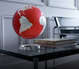 mappamondo rosso full circle vision by atmospoher globe