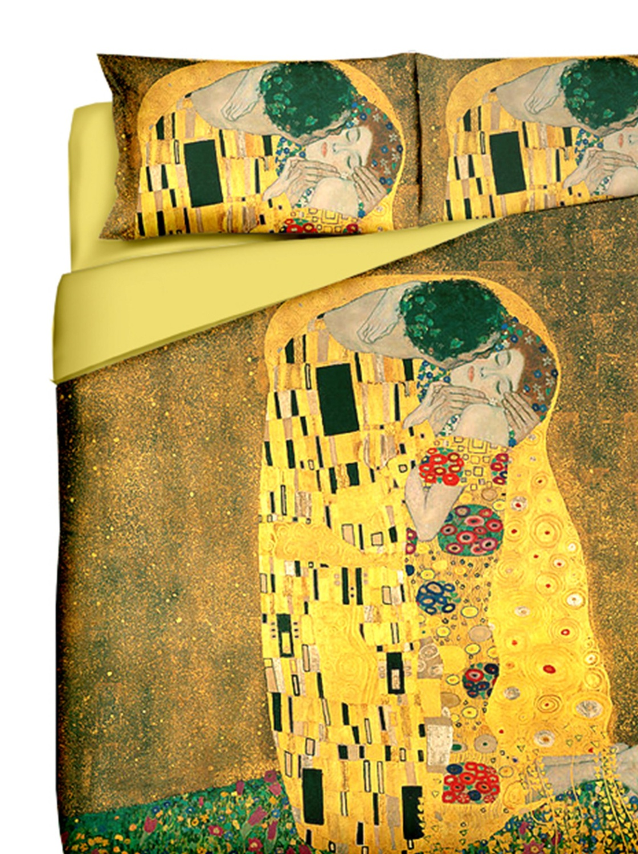 Copripiumino Matrimoniale Design.Amazon Gustav Klimt Il Bacio Copripiumino Matrimoniale Stampa
