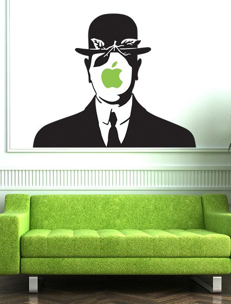 magritte-divertentete-lassociazione-delluomo-con-la-mombetta-di-magritte-e-la-mela-di-apple-anche-magritte-era-soluto-utilizzare-la-mela-stickers-su-evergreenorange-com2