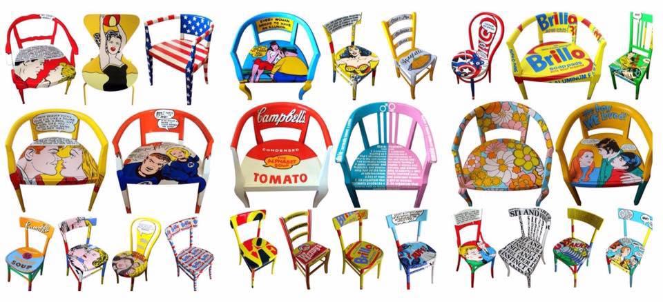 pop-art-le-sedie-vintage-di-silvia-zacchello
