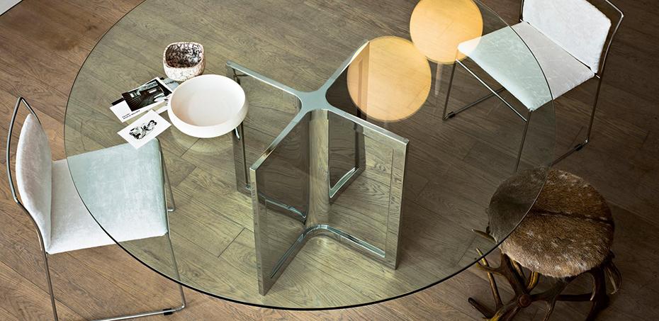 tavolo-raj-e-raj-4-di-gallotti-radice-con-piano-in-cristallo-trasparente-struttura-in-acciaio-inox-lucido-completa-di-pannellatura-in-lastra-dacciaio-lucido2