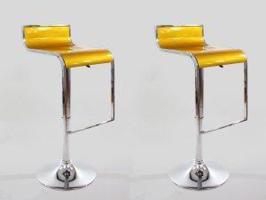 amazon-2x-sgabello-da-bar-oro-plastica-ruotabile-regolabile-in-altezza