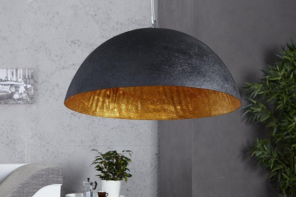 amazon-design-lampada-da-soffitto-moonrise-nero-oro-antico-fibra-ottica-o-50-cm