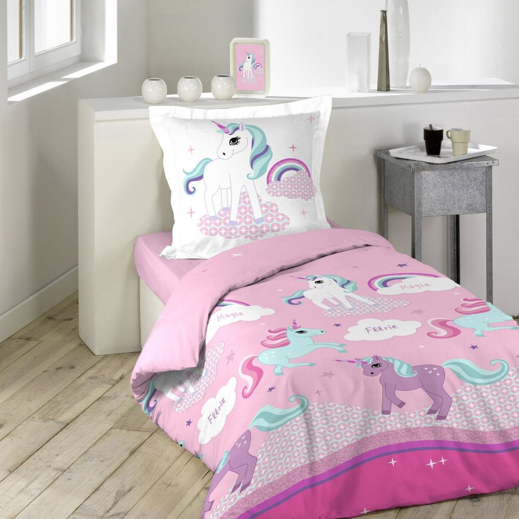 amazon-douceur-dinterieur-1641632-unicorno-parure-con-federa-per-cuscino-in-cotone-multicolore-140-x-200-cm