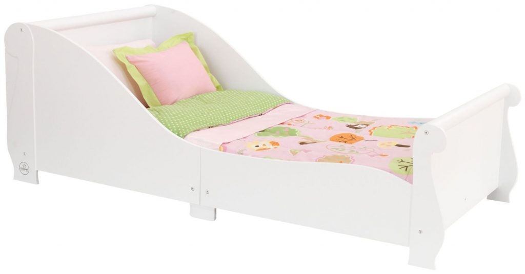 amazon-kidkraft-86730-lettino-a-forma-di-slitta-bianco
