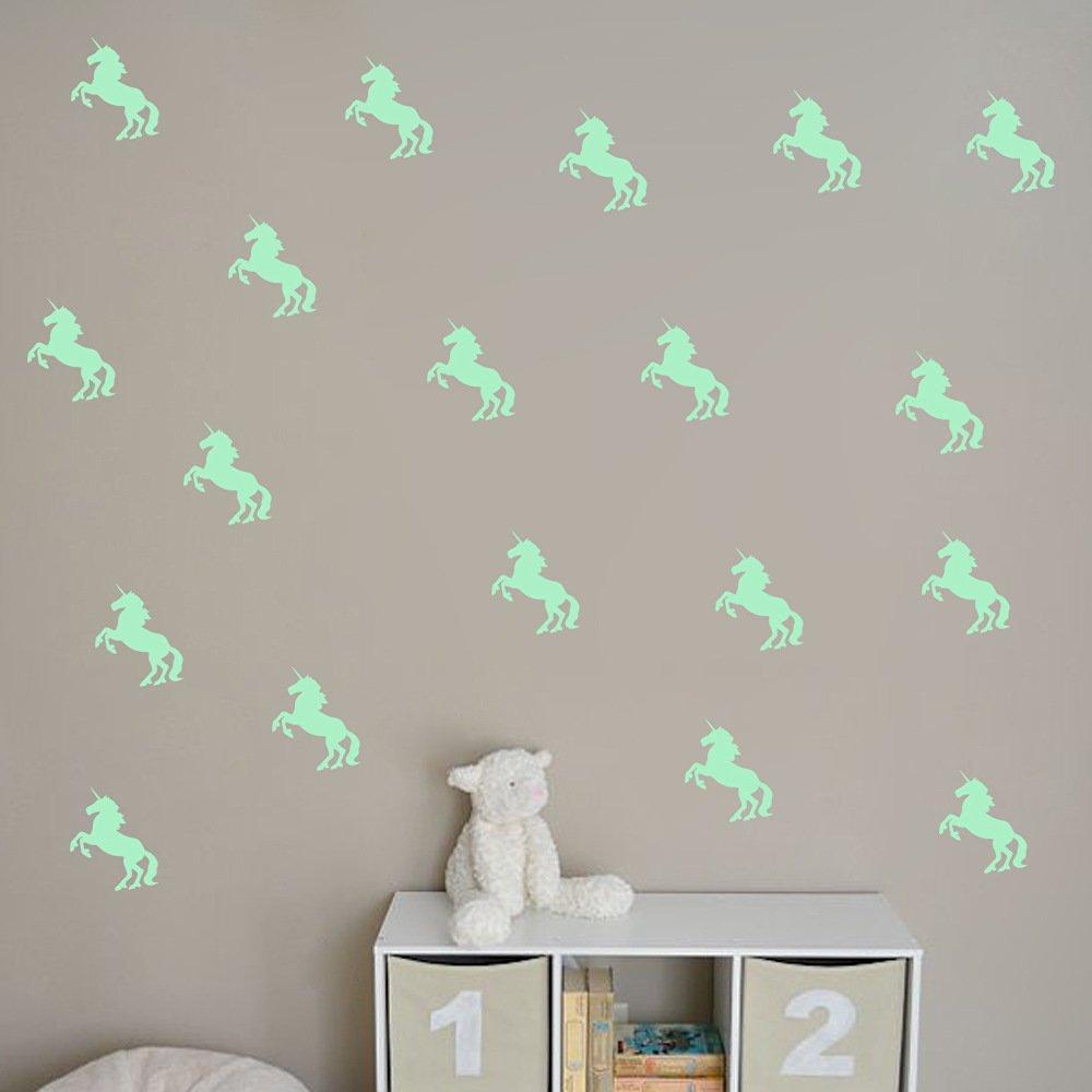 Adesivi Murali Low Cost.Amazon Ufengke 16 Pezzi Unicorno Adesivi Murali Fluorescenza