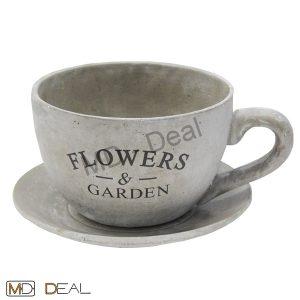 amazon-vaso-da-fiori-pianta-colore-grigio-cemento-tazza-piattino-32x32x19