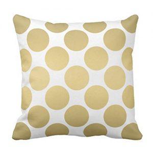 amazon-wuqing-cuscino-oro-e-bianco-con-motivo-pois-grandi-457-x-457-cm