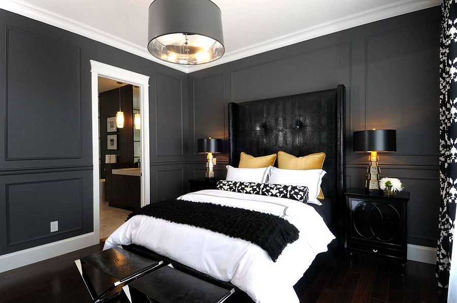 nero-e-oro-sophisticated-use-of-black-gold-and-gray-in-the-bedroom