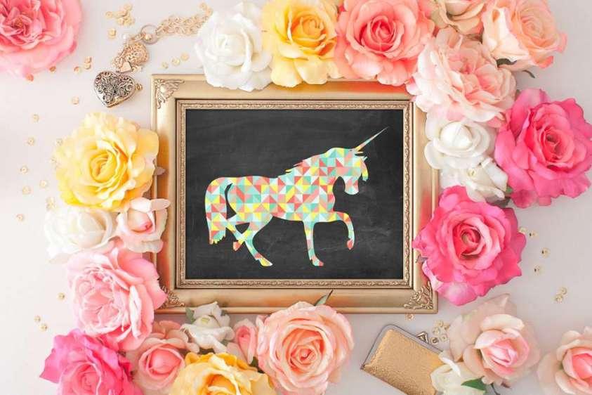 parete-quadretto-con-unicorno
