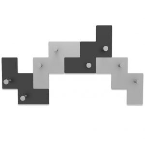 .amazon Appendiabiti da Parete Design Tetris colore Nero