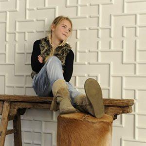 .amazon Wall Decor - Pannelli Tridimensionali WallArt Tetris dal design moderno ed accattivante Confezione da mq.3