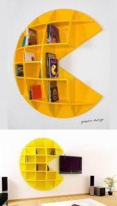 pac man Designer italiano Mirko Ginepro è responsabile per la brillantezza dietro la libreria Puckman videogioco cult anni 80