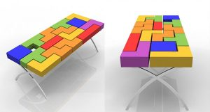 geek tetris Jared Kohn ha ideato questo tavolo ispirandosi a Tetris.