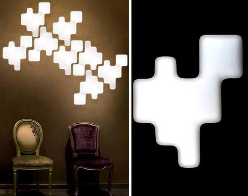 Kundalini Pixel Lampada da parete