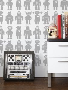 robot Big Robots Designer Wallpaper by Aimée Wilder.