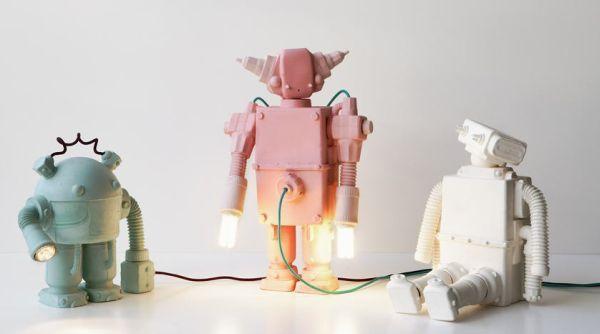 robot lampade robot in ceramica nina tolstrup
