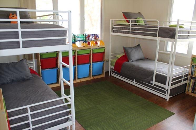 Come progettare una camera per quattro architettura e design a roma - Letto a castello a tre ...