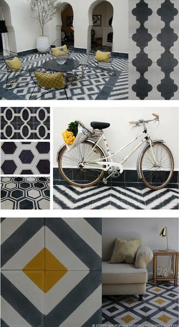 pavimento in bianco e nero