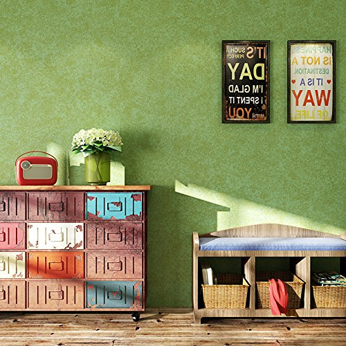 colore pantone greenery Carta da parati effetto vintage seta in tinta unita tessuto non tessuto