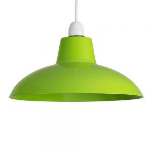 MiniSun - Bellisimo paralume dal design retro, in metallo di colore verde lucido - per lampada a sospensione vari colori