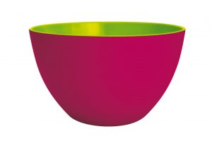 Zak Designs 1701-0321 - Insalatiera Duo in melammina, ø18 cm, colore: Rosso lampone/Verde