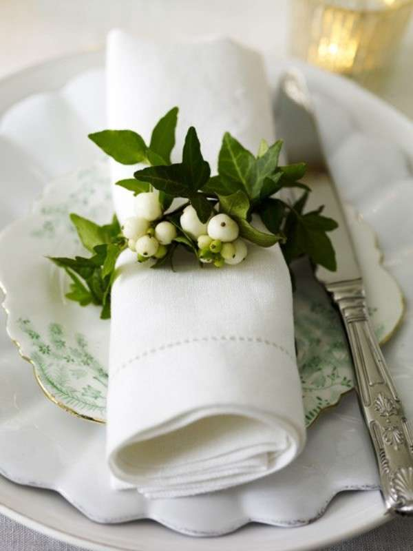 matrimonio greenery tavola