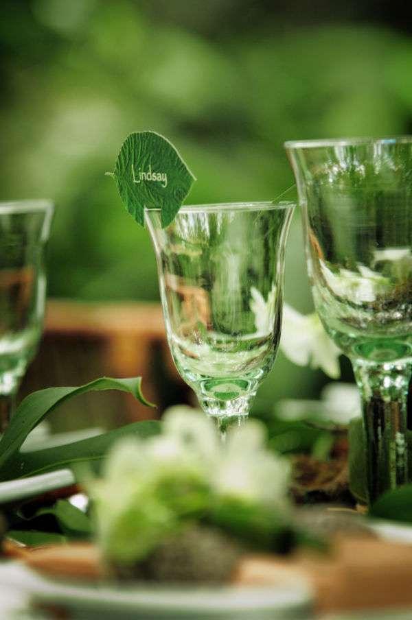 matrimonio greenery segnaposto