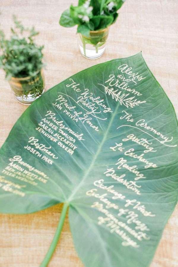 matrimonio greenery tableau