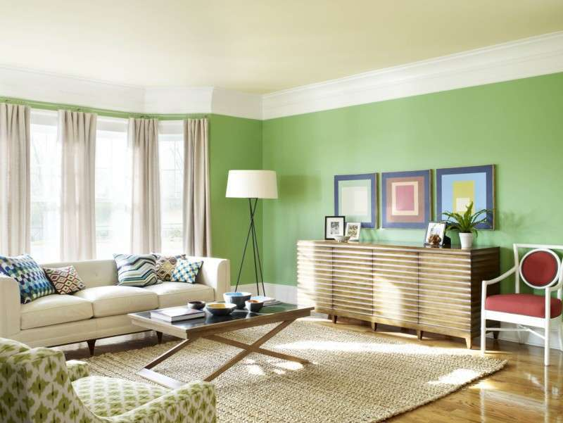 colore pantone greenery parete