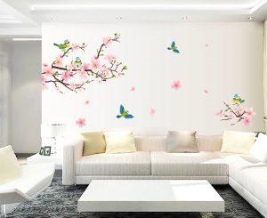 Arredare con il color rosa pesca e i rami di pesco in fiore ...