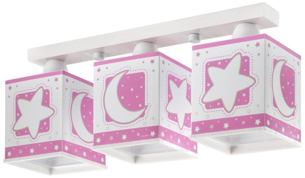 Un arredamento di design…spazziale! - image amazon-39.57-Dalber-63232S-Plafoniera-Luna-a-3-lampade-per-bambini-Colore-Rosa-1024x599 on http://www.designedoo.it