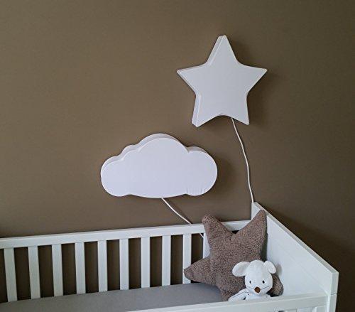 Un arredamento di design…spazziale! - image amazon-lampada-da-muro-bambini-nuvola-e-stlla-di-Bacon-and-Apples on http://www.designedoo.it