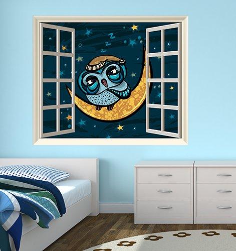 Un arredamento di design…spazziale! - image amazon-di-Adesivi-Creativi-Finestra-adesiva-Finestra-gufetto-sulla-luna-Dimensioni-60-X-50-cm-25.90 on http://www.designedoo.it