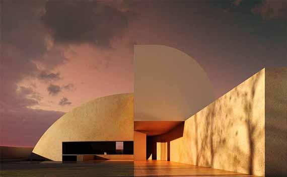 Un arredamento di design…spazziale! - image luna-architettura-Concrete-Moon-House-Design-by-Antonino-Cardillo on http://www.designedoo.it