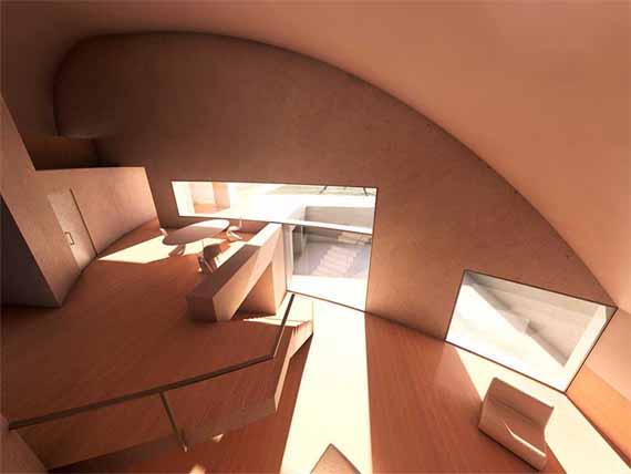 Un arredamento di design…spazziale! - image luna-architettura-Elegant-Interior-Concrete-Moon-House-by-Antonino-Cardillo on http://www.designedoo.it