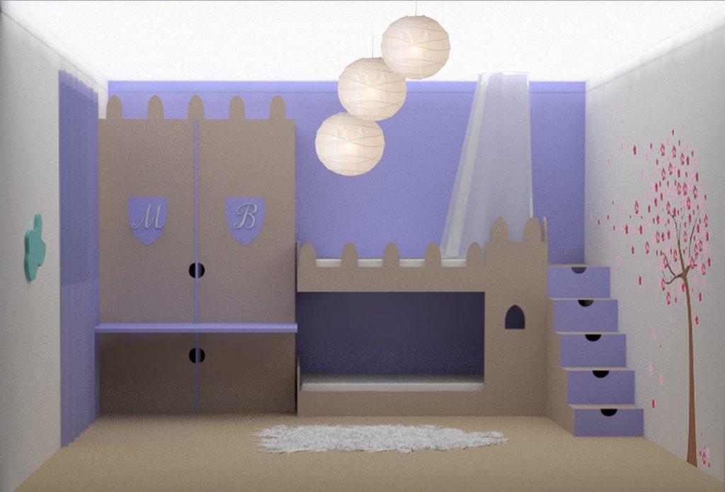 Progetto per una cameretta creativa con soluzioni di - Letto delle principesse ...