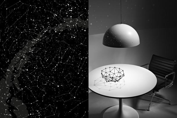 Un arredamento di design…spazziale! - image stelle-lampada-della-luce-Starry-da-Anna-Farkas-graphic-designer-e-hobby-astrologo-e-Miklos-Batisz-interior-designer on http://www.designedoo.it