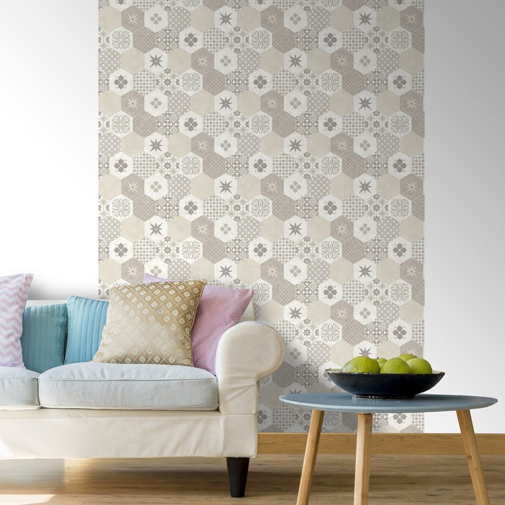 mix match patchwork di piastrelle architettura e