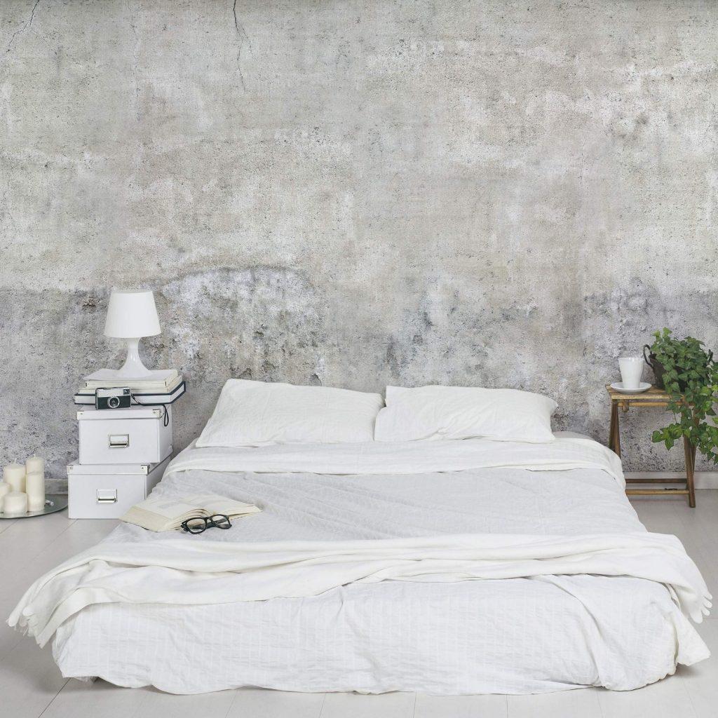 Arredare con il cemento nuova tendenza architettura e for Carta da parati amazon