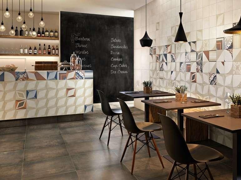 Piastrelle esagonali adesive per pavimenti: mix match patchwork di
