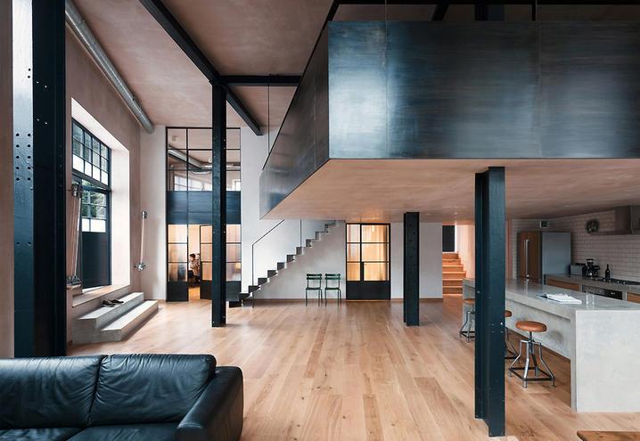 6 soluzioni per arredare un loft moderno architettura e design a roma - Mezzanine woonkamer ...