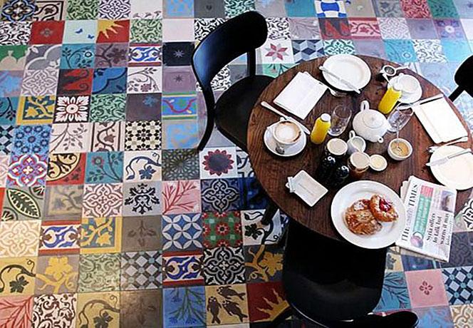 Mix & match: patchwork di piastrelle architettura e design a roma