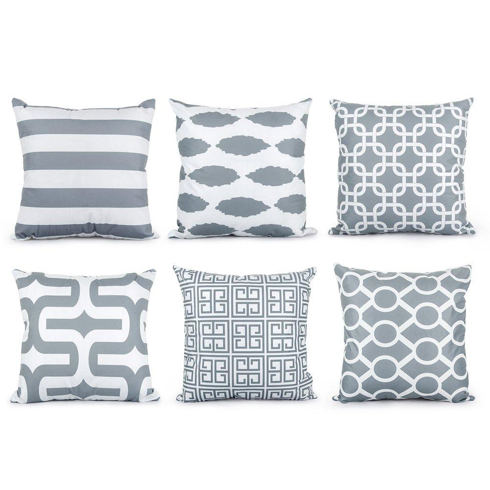 Arredare con il grigio architettura e design a roma - Federe cuscini divano ...