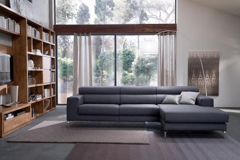 Neat divano grigio scuro jl06 pineglen - Divano grigio antracite ...