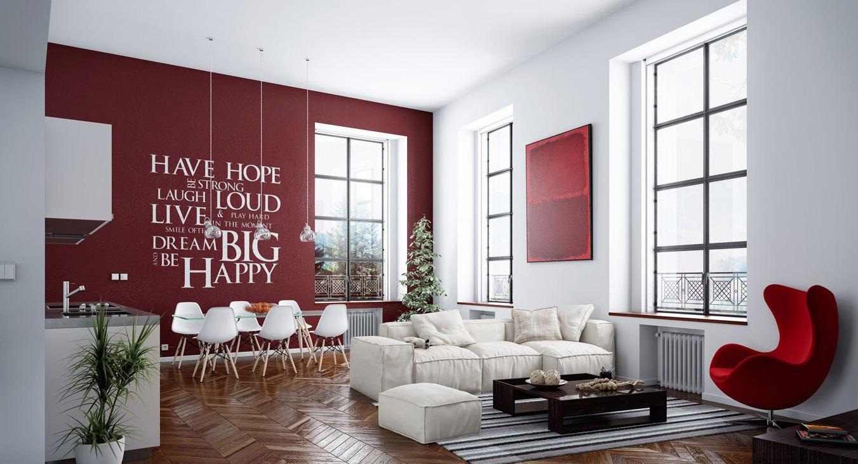Design Degli Interni Roma parete colorata soggiorno ~ il meglio del design degli