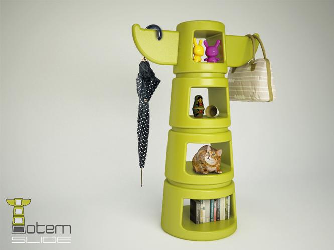 Totem progetto di alpestudio con totem un appendiabiti for Oggetti di design per la casa